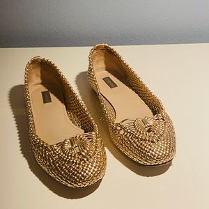 Joan and David Emilie Woven Flats Size 8